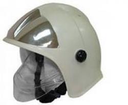 Шлем-каска пожарного ШКПС белая