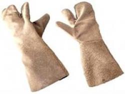 Перчатки трехпалые с крагами (утеплитель - брезент)