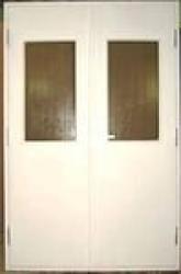 Дверь ДПМ-02/60-О двупольная остекленная